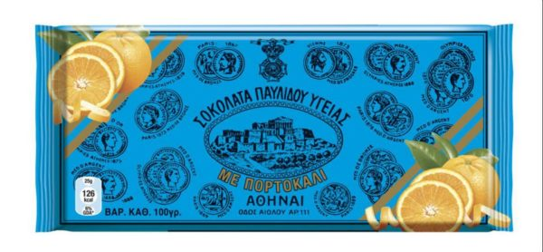 Dark Chocolate with Orange - Ygeias Pavlidis 100gr-0