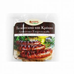 Spiny chicory & olive oil stuffed pork sausages 170gr Hasikos-0