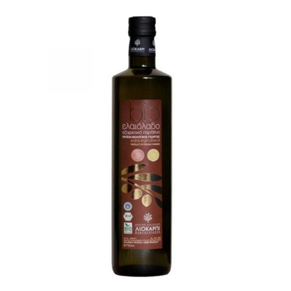 Bio - Organic Cretan Extra Virgin Oilve Oil 500ml Glass Bottle Liokarpi-0