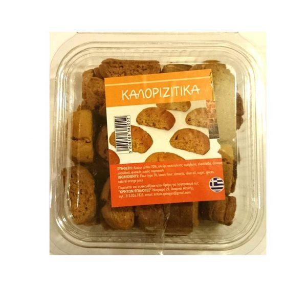 Orange & Almonds Handmade Biscuits 300gr - Chaniotika-0