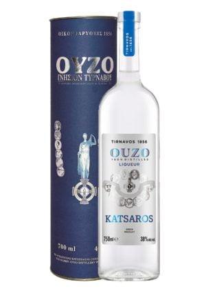 Ouzo Tirnavos 700ml Gift Pack-0