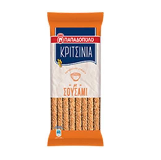 Breadsticks with sesame Papadopoulou - Kritsinia 130gr-0