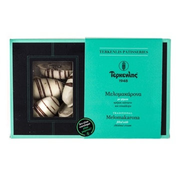 Terkenlis Melomakarona walnut biscuits with chestnut filling & white cream coating 600gr-0