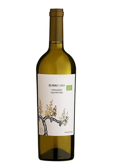 Klima Assyrtiko Organic White Wine 750ml Tsantalis-0
