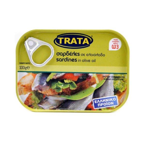 Sardines in olive oil 100gr Trata-0