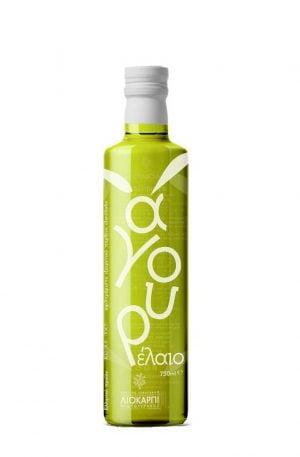 Agourelaio - Green Cretan extra virgin olive oil 500ml Liokarpi-0
