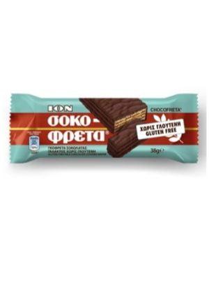 ION Sokofreta Chocolate Wafer Bar gluten free 38gr-0