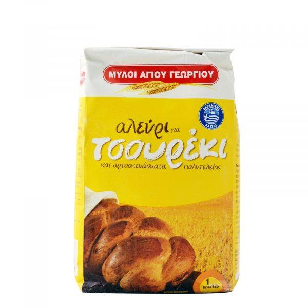 Flour for tsoureki-brioche 1kg Ag.Georgiou-0