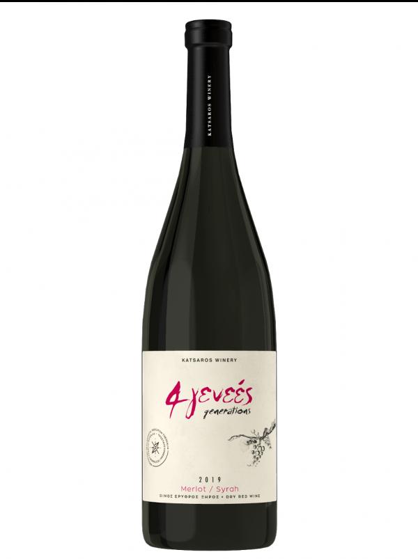 4 Generations Red Dry PGI Wine 750ml Katsaros-0