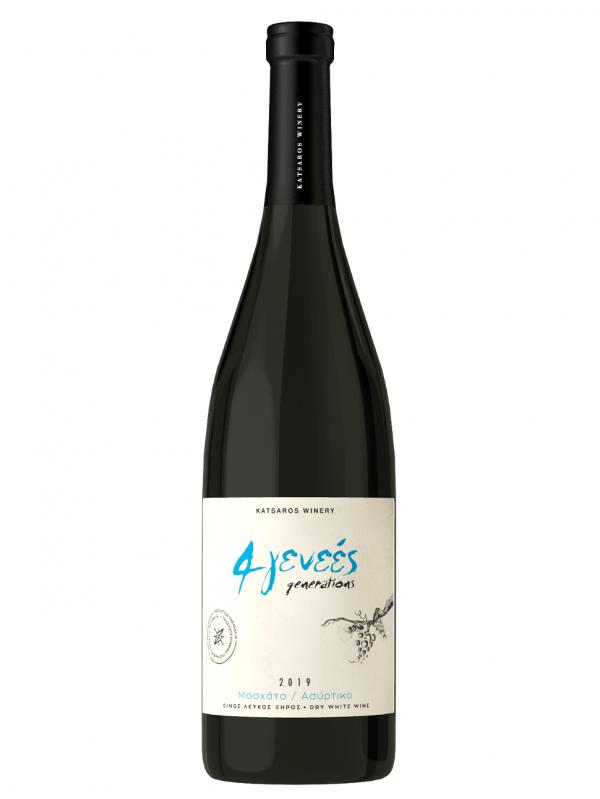 4 Generations White Dry PGI Wine 750ml Katsaros-0