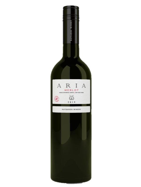 Aria Merlot Red Dry PGI Wine 750ml Katsaros-0