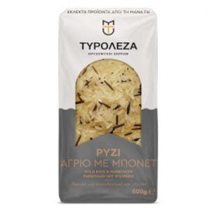 Wild Rice & Parboiled White Rice 500gr Tiroleza-0