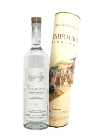 Tsipouro Tirnavos with anise 700ml Gift Pack-0