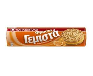 Gemista Orange filled Biscuits Papadopoulou 200gr-0
