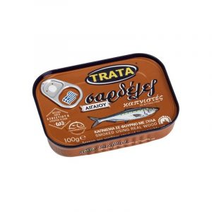 Smoked Sardines in Vegetable Oil 100gr Trata-0